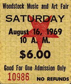 Boleto para Woodstock // Woodstock ticket