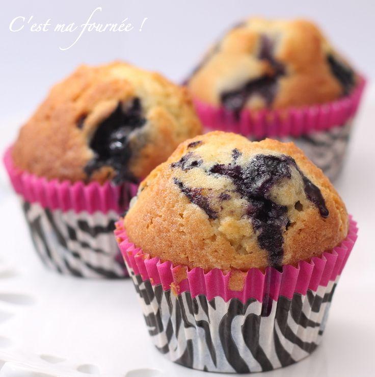 Les muffins aux myrtilles - C'est ma fournée
