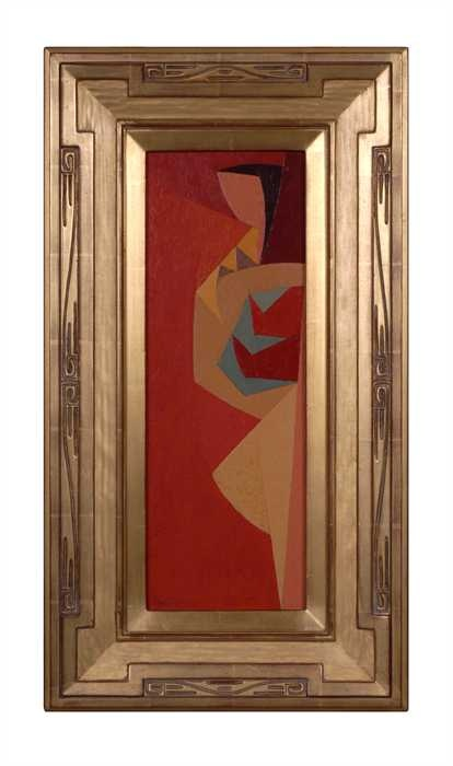This wonderful untitled oil painting by Karl Benjamin, is framed in a  beautiful gold gilded frame. Karl Benjamin (December 29, 1925  July 26,  2012) was an ...