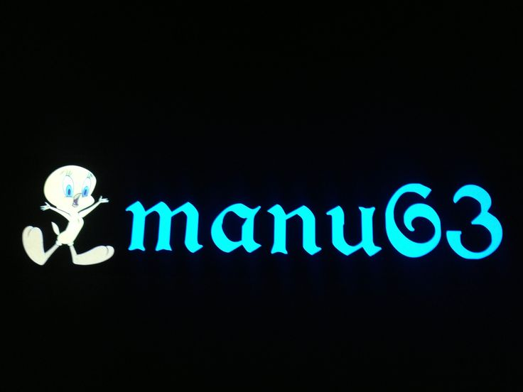 Plaque prénom camion Manu63