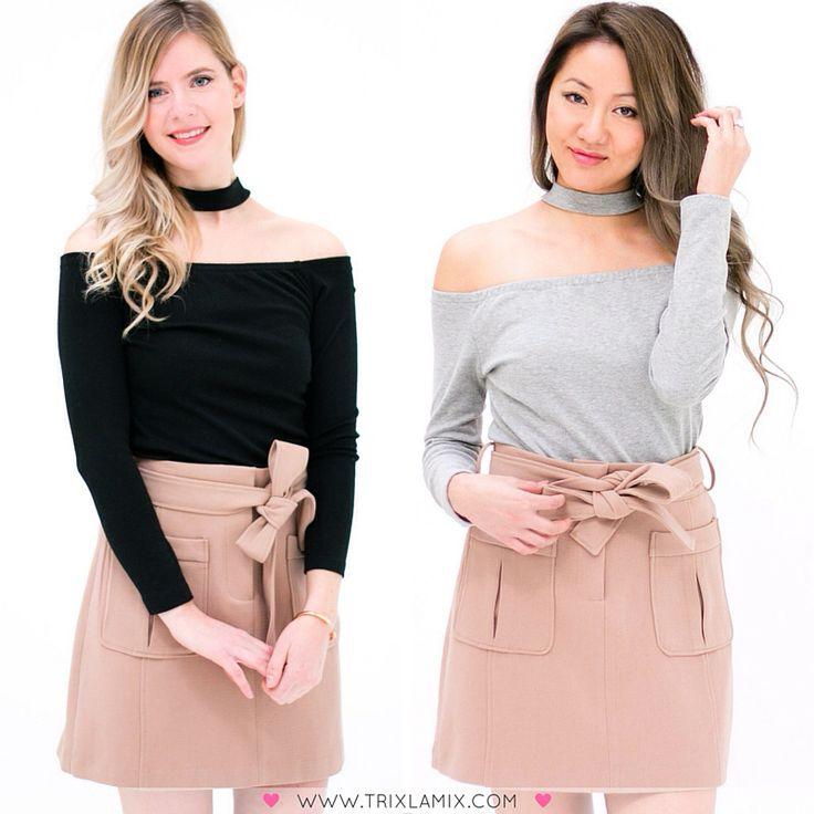 Outfit of the day voor deze zonnige dinsdag. De top is verkrijgbaar in het zwart en grijs en o zo mooi ! Met deze look kan je zowel overdag als s'avonds gezien worden  .  Shop de grijze en zwarte Off Shoulder  Top + Beige Rok op www.trixlamix.com  #trixlamix #outfit #spring #ootd #instapic #picoftheday #potd #style #fashion #musthave #musthaves #fashionista #instagood #love #girl