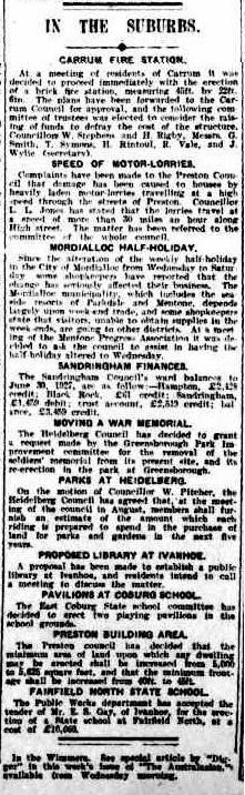 Faifield North Primary School.  Argus (Melbourne, Vic. : 1848 - 1957), Tuesday 26 July 1927, page 11