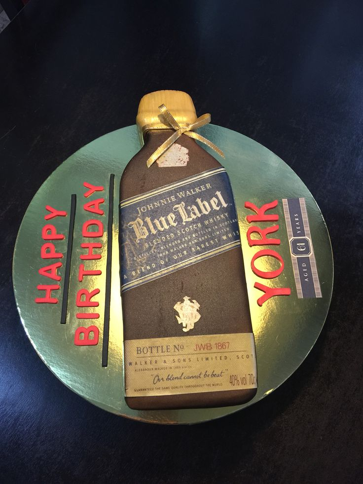 JW Blue Label Fondant Cake