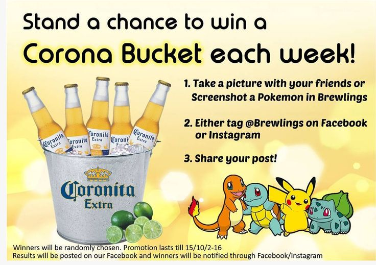Participate in our contest to win beers every week!  #pokemon #pokemongosg #corona #drinkup #drinkstagram #sgdrinks #sgpromo #cheapdrinks #exploresg #igsg #sg #instasg #instagram #serangoon #sgpubs