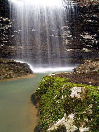 Bridal Veil Falls, Heber Springs, Arkansas, by cormack13, via Flickr