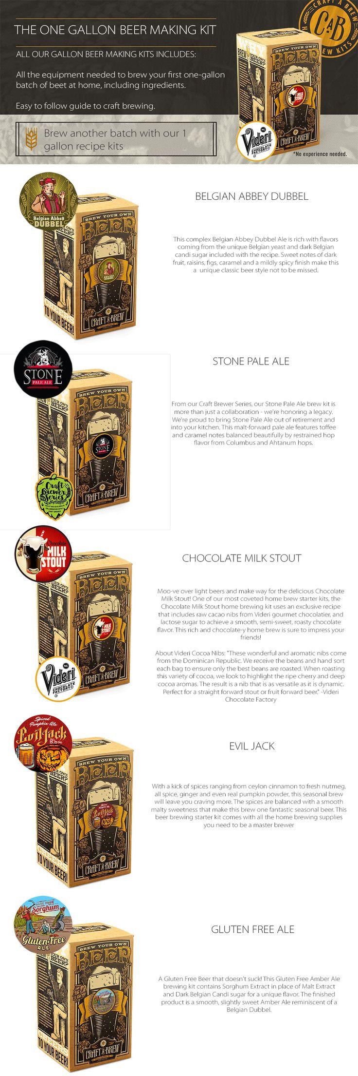 Beer Brewing Kits II Make One Gallon Beer