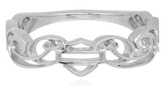 Harley Davidson Womens sterling silver womens signature ring..size 7