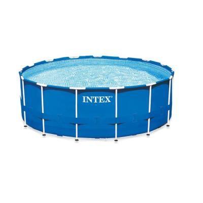 Intex 15 ft. x 42 in. Metal Frame Pool Set-28233EG - The Home Depot