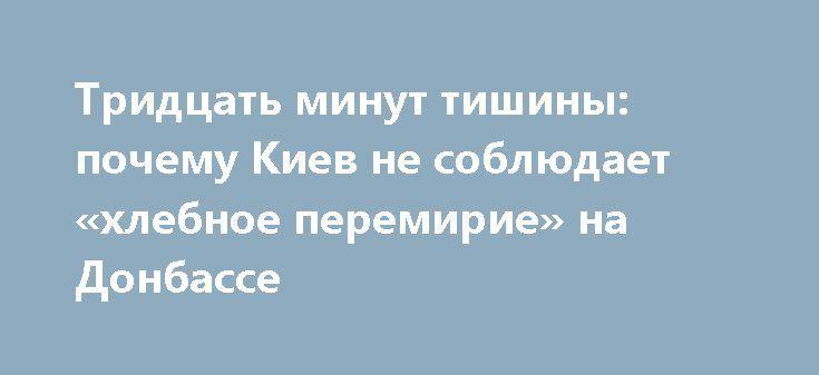 Тридцать минут тишины: почему Киев не соблюдает «хлебное перемирие» на Донбассе http://rusdozor.ru/2017/06/27/tridcat-minut-tishiny-pochemu-kiev-ne-soblyudaet-xlebnoe-peremirie-na-donbasse/  С полуночи 24 июня по местному времени на Донбассе было объявлено «хлебное перемирие» — стороны вооружённого конфликта обязались воздерживаться от обстрелов с 24 июня до 31 августа. Это далеко не первое перемирие с начала военного конфликта в Донбассе, и ни ...