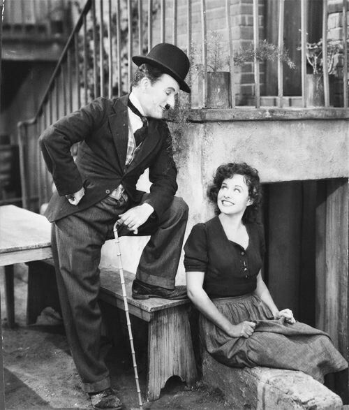 Charlie Chaplin with his third wife.