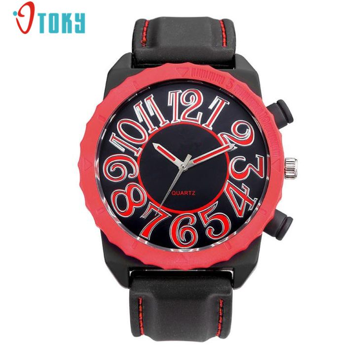 >> Click to Buy << 1PCS Fashion Men Clocks Thin Silica Gel Big Dial Watches Students Sports Quartz Wrist Watch Creative May10 #Affiliate