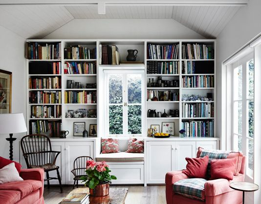 Love these bookcases