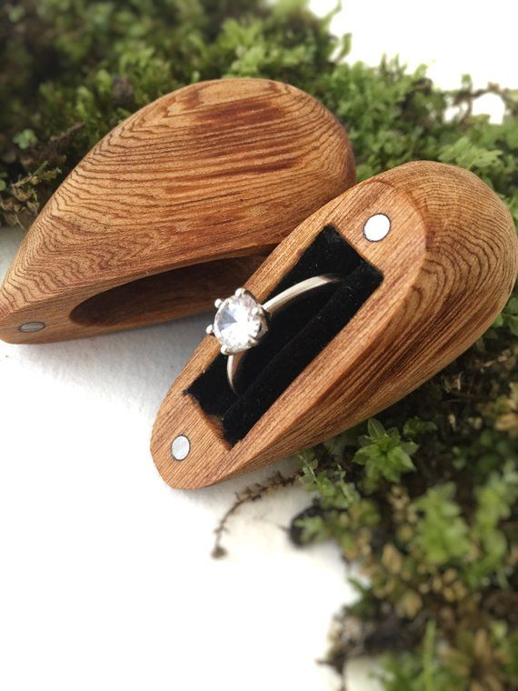 Engagement Ring Box, Proposal Ring Box, Wooden Ring Box, Small Ring Box… Made In The USA! Made with Solar Power! Free Shipping! Handmade