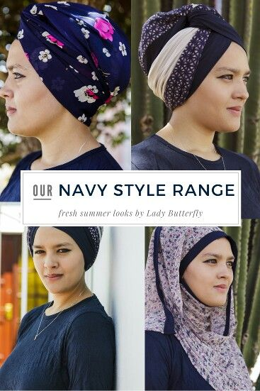 Different navy stylish pin free hijab. Where it how you like.