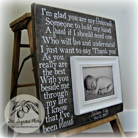 Godmother Godfather Gift Personalized Picture by thesugaredplums