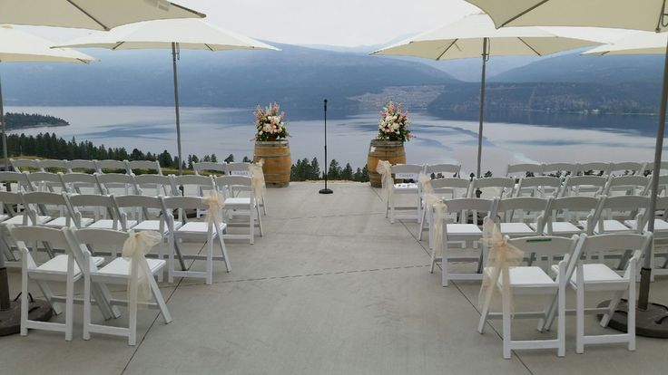 Possibly the most beautiful outdoor event location with the best view in the Okanagan Valley can now be reserved for special functions.  The 'Infinity Event Pad' is a breathtaking vista featuring a 3,000 sq-ft concrete infinity pad that visually drops into the vineyards and lake below.  It is the most stunning outdoor setting for a private chef's dinner with your friends, cocktail reception, or wedding ceremony. Visit www.50thParallel.com for more information on our Wedding packages.