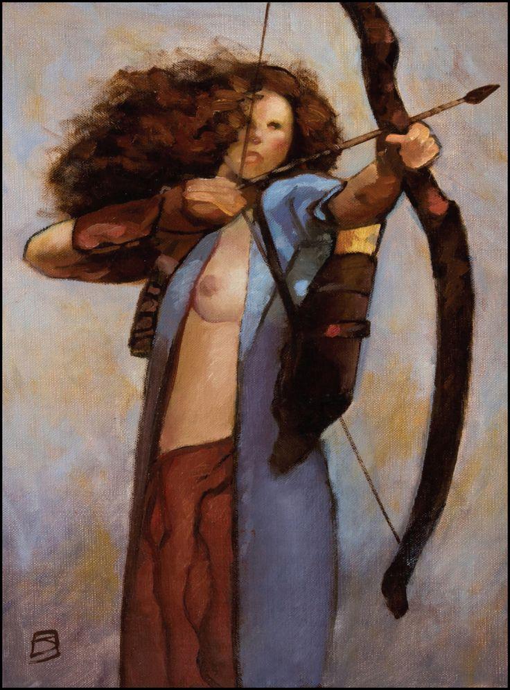 Archeress by Jeff Jones, 1990′s.