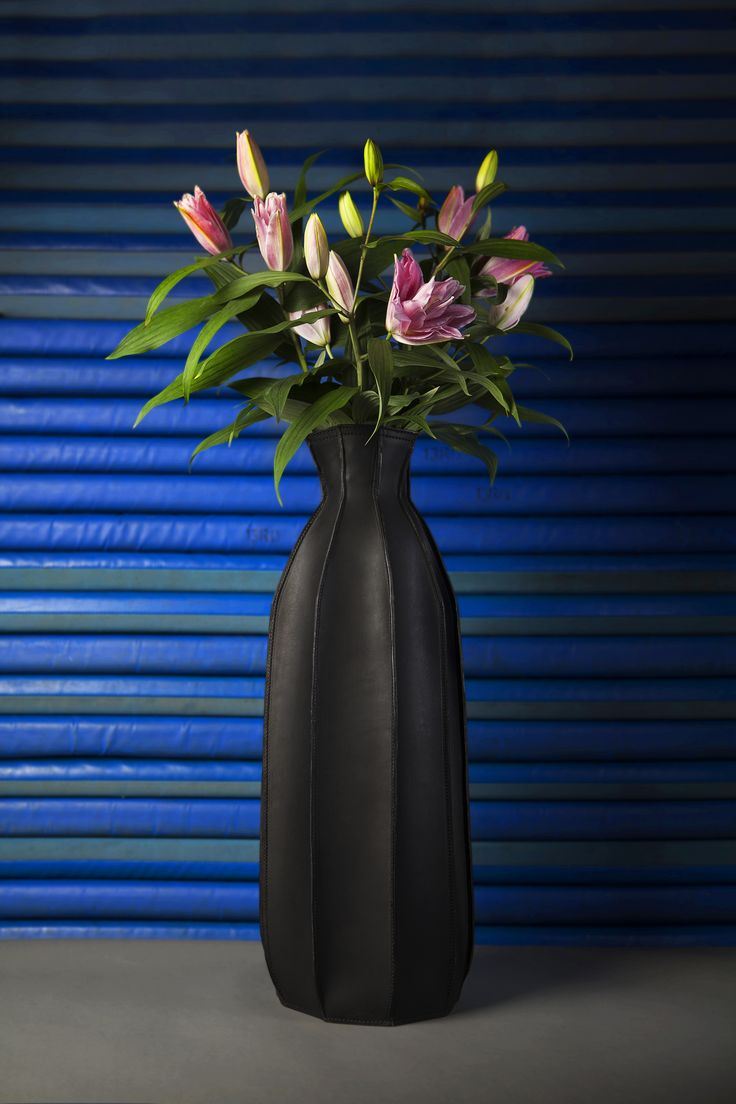Plumbers Piece | Studio Roex | Leather | Vases | Dutch Design | Chocolate Brown