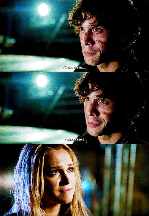 Bellamy Blake and Clarke Griffin || The 100 season 3 episode 12 - Demons || Bellarke || Bob Morley and Eliza Jane Taylor