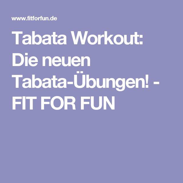 Tabata Workout: Die neuen Tabata-Übungen! - FIT FOR FUN