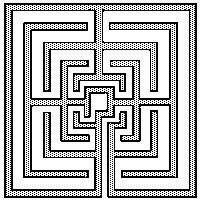 a square labyrinth