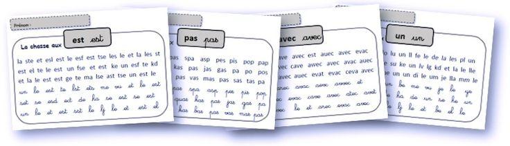 Des fiches pour entrainer la reconnaissance directe des mots outils - graines de livres
