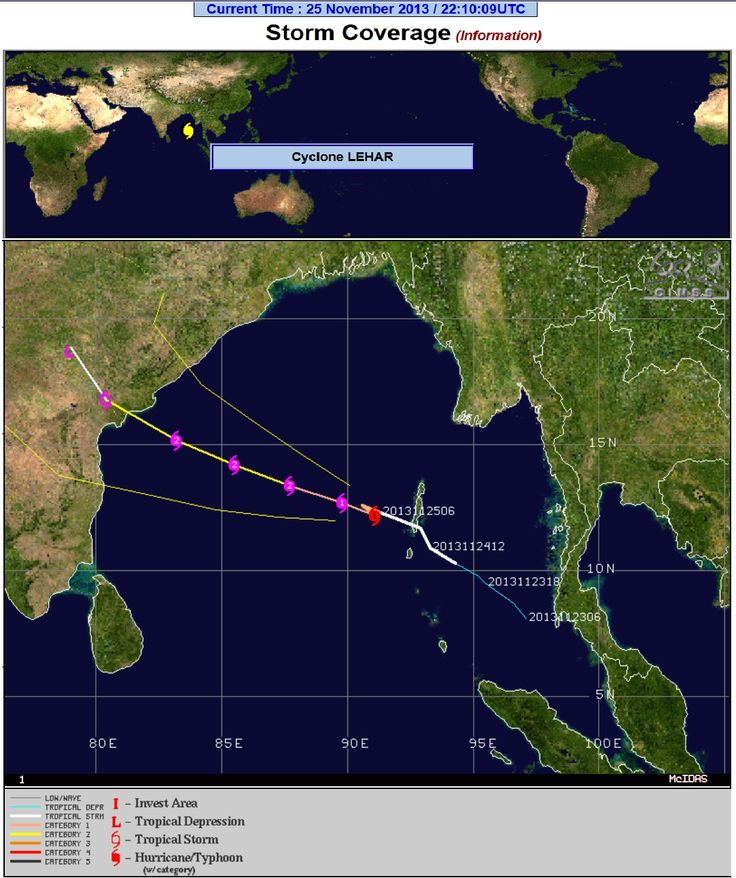 Cyclone LEHAR inching towards u0027Andhra Pradeshu0027 httpwww