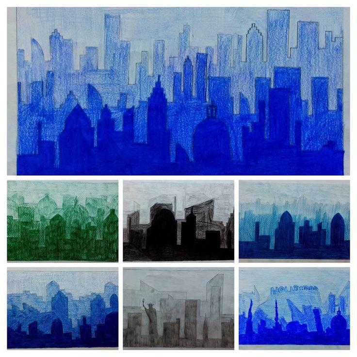 ARTE IN CLASSE: Gradazioni tonali con matite colorate