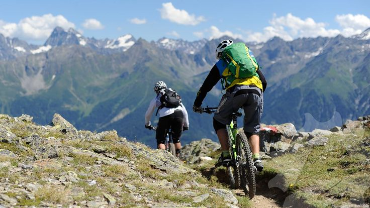 Der erste für Mountainbike angelegte Freeride Trail in Serfaus  - Frommestrain, oostenrijk