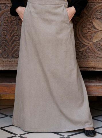 'Marzipan' Corduroy Ascot Skirt by Shukr Clothing