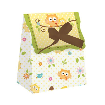 "Happi Tree Favor Bag with Ribbon (includes 12 pcs in a pack; measures 4.5"" x 3.5"" with ribbons as tie closure)"