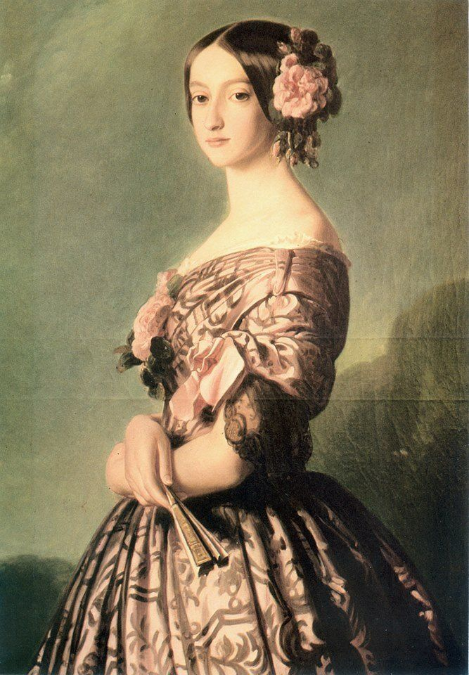Dona Francisca, princess of Joinville, daughter of D. Pedro I and Empress Maria Leopoldina (Franz Xaver Winterhalter,  1846-1847/  Versalhes, France)