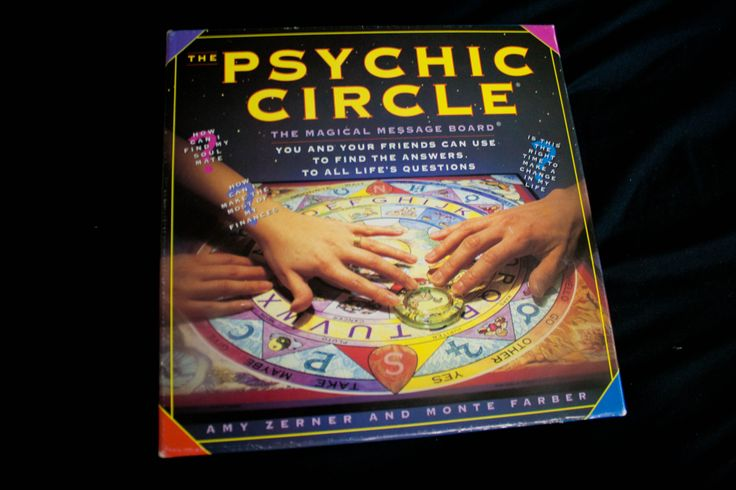 Used with care and in very good condition!  Very fun if used correctly ;)  I feel as if I have grown out of my Psychic Circle days and want to pass on this gem along to someone else. The board is gorgeous and very detailed.   Psychic Circle Board   Product Description Open this box and em...