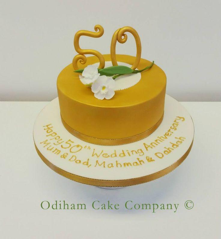 OCC - Chocolate sponge 50th Anniversary cake with handmade Oleander flowers.#cake #anniversary #oleanderflowers