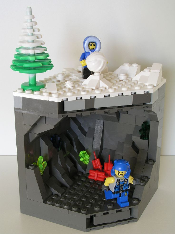 Lego Power miners cave   Flickr - Photo Sharing!