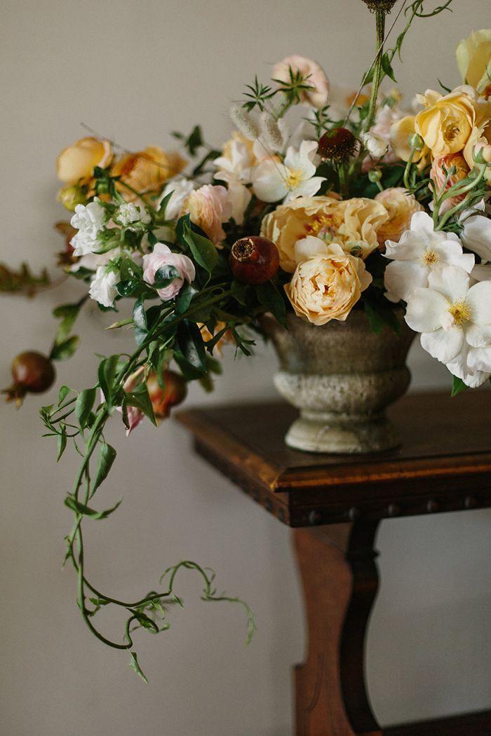 Gold and bronze wedding flower inspiration.