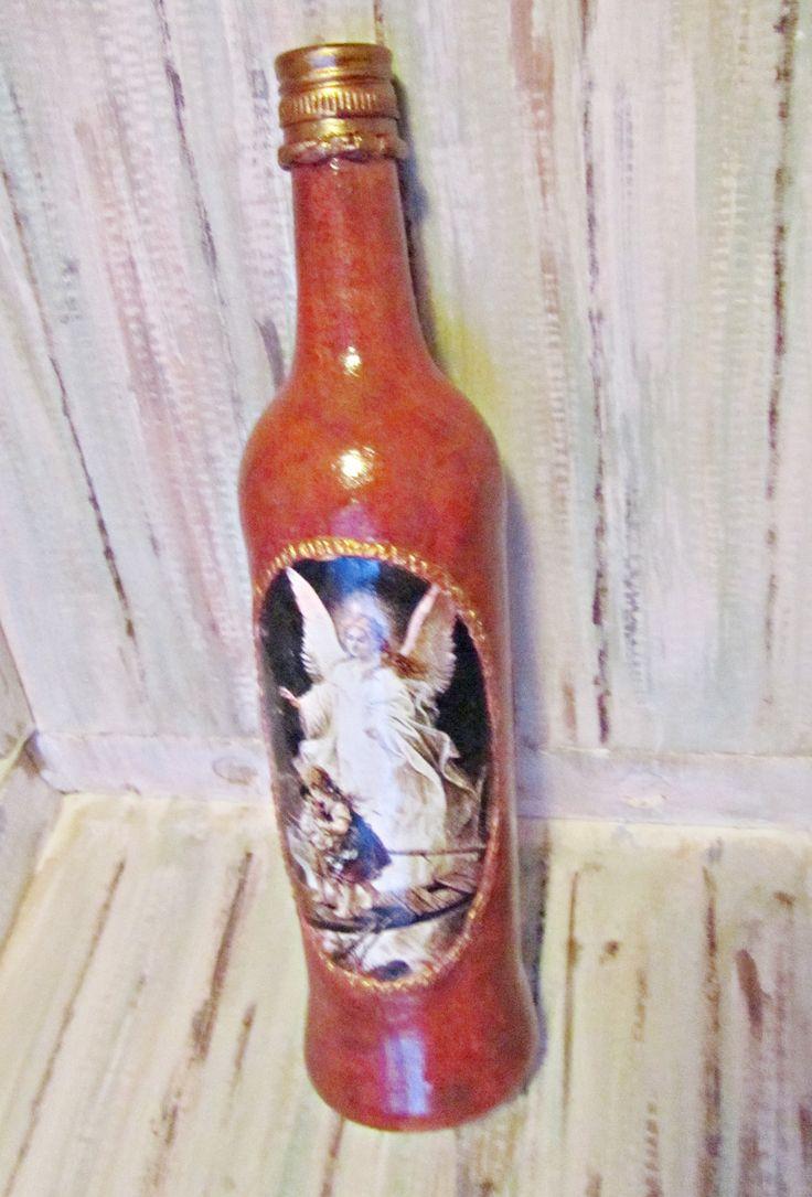 Красная бутылка для святой воды
