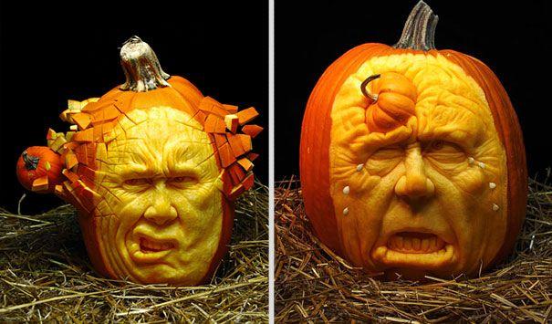 Halloween pumpkin carving : les citrouilles effrayantes de Ray Villafane