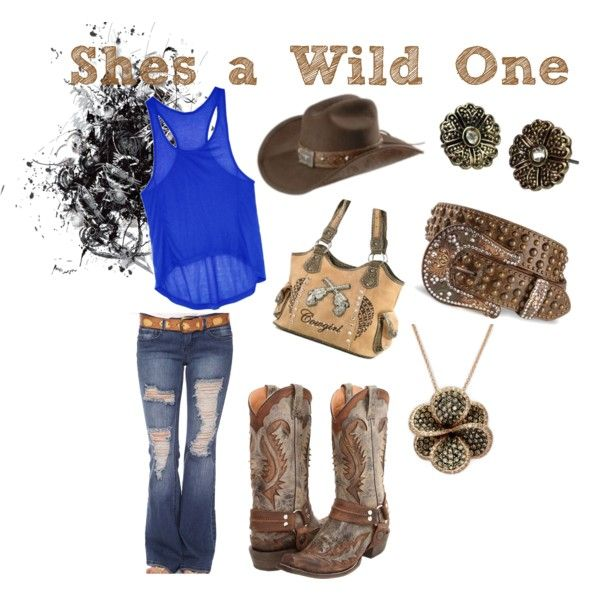 wild one, created by herschni on Polyvore: Kentucky Girls, Country Style, Country Girls, Fallwint Closet, Kinda Style, Country Life, Heart Clothing, Wild One, Country Clothing