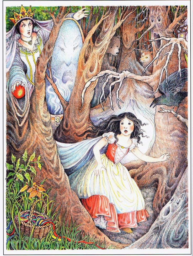 Snow White illustration by Kay Chorao from The Child's Fairy Tale Book.
