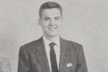 Cropped photo of Don in 1957 as a member of the Kirtland Society at Phillips-Exeter Academy in Exeter, NH.