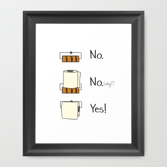 Shop Funny Ways to Deal With Your Household Dilemmas: Bathroom Rules Framed Art Print, $33
