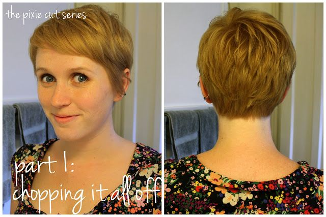 unspeakable visions: the pixie cut series, part 1: chopping it all off Love her blogs on rocking the pixie!