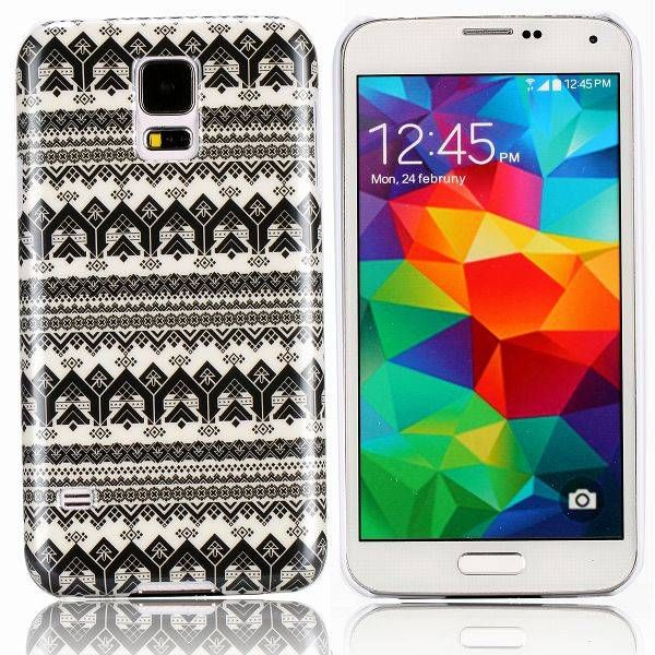 Zwart / wit tribal hoesje voor Samsung Galaxy S5