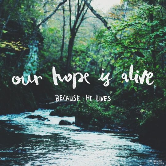 Our hope is alive, because he lives!*☆ Pinterest: ℓuxulƗrɑv | IG:  @ℓuxuriousuℓƗrɑvıoℓeƗ LUXURIOUSULTRAVIOLET.com ♛