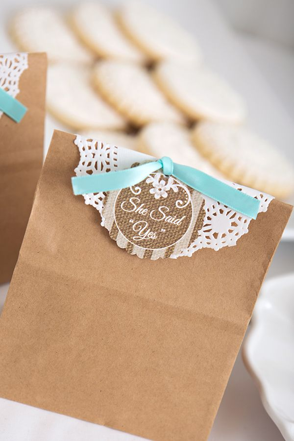 Cute Lace Bridal Shower Favors