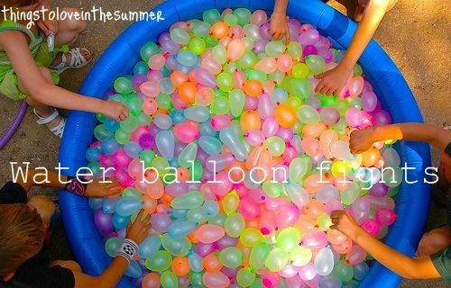 Best thing to do in Summer :)    I want to have one giant water balloon fight.