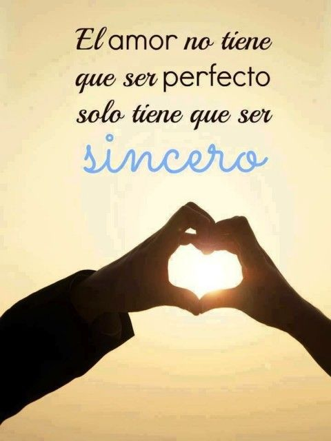 No un amor perfecto, sino sincero