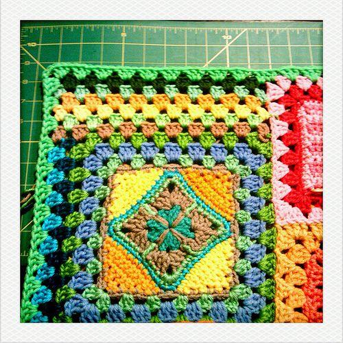 Crochet Tutorial Joining : joining my sampler. Crochet Granny, Crochet Joining, Crochet Tutorials ...