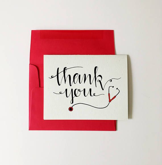 Elegant Thank You Card For Nurse Appreciation Doctor Thank Yous Or Thank You Cards For Medical Handmade Thank You Cards Thank You Cards Appreciation Message